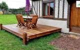 Fabrication d'une terrasse bois par l'entreprise ML OSSATURE située à Quincy-Voisins 77860