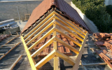Réalisation d'un raccord de toit par l'entreprise ML OSSATURE située à Quincy-Voisins 77860