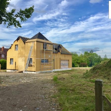 Construction en ossature bois par l'entreprise ML OSSATURE située à Quincy-Voisins (Île-de-France)