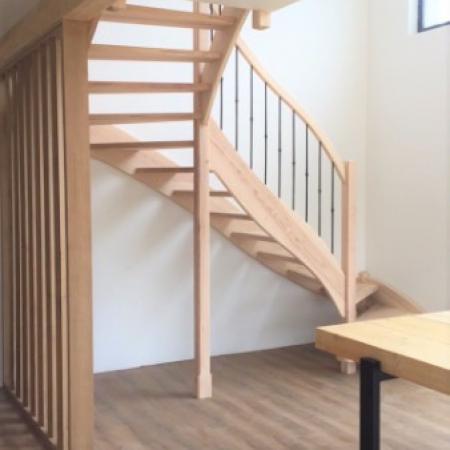 Réalisation d'un escalier par l'entreprise ML OSSATURE située à Quincy-Voiins 77860 (Île-de-France)