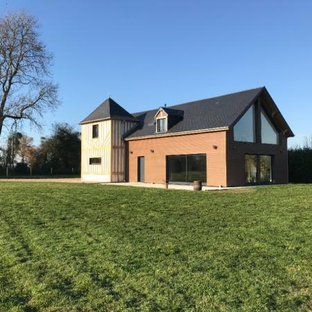 Réalisation d'une maison ossature bois par l'entreprise ML OSSATURE située à Quincy-Voisins 77860 (Île-de-France)